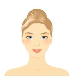 Young girl face vector