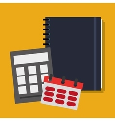 Notebook and office related items icon vector