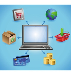 Internet shopping concept vector