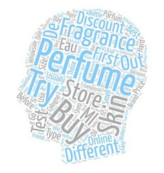 How to buy perfume text background wordcloud vector