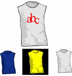 color and white t-shirt templates vector image