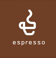 cofee logo concept business vector image
