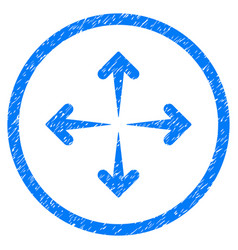 expand arrows rounded grainy icon vector image