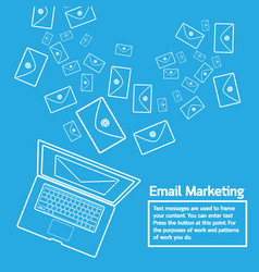 Laptop send email marketing vector