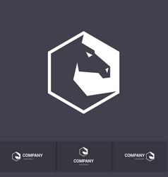 Stylized dark horse head for mascot logo template vector