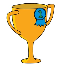 Cartoon trophy vector