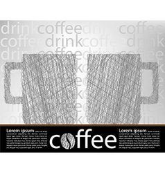 Coffee poster vector