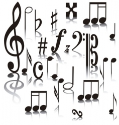 Musical signs vector