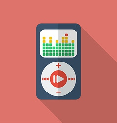 Media player icon modern flat style with a long vector