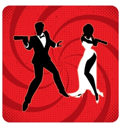 Spy Couple 2 vector image