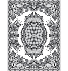 Grey ukrainian floral carpet design for print on vector