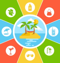 Rules of conduct in summer vacation information vector