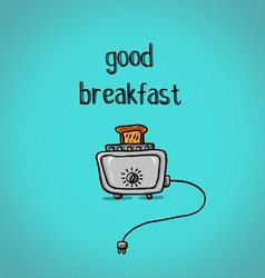 Good toast out of the toaster for breakfast vector