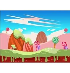 Fantasy sweet food land vector