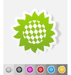 Realistic design element sunflower vector