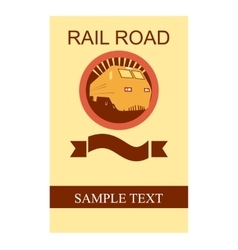 Rail road flyer vector