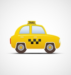 Taxi car isolated on white background vector