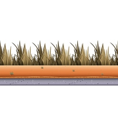 Seamless background with grass along the road vector