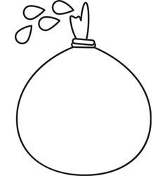 April fools day balloon celebration thin lin vector