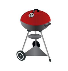 Barbecue grill isolated on vector