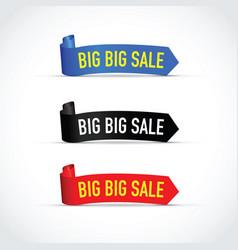 big sale sign set vector image vector image