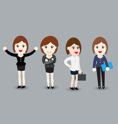business woman flat design - vector image