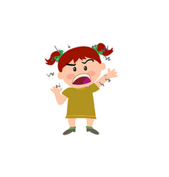 cartoon character girl angry vector image vector image