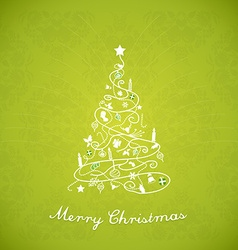Christmas tree created of Christmas simple vector image vector image