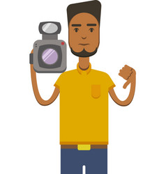 Drawing of an africo american man with vector