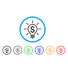 Electric light price rounded icon vector