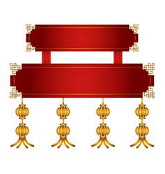 Empty chinese banner vector