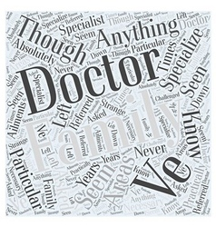 Family doctor word cloud concept vector