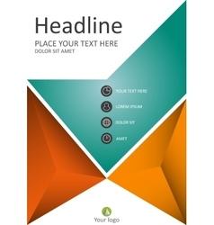 Financial annual report in a4 cover design vector
