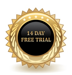 Fourteen Day Free Trial vector image
