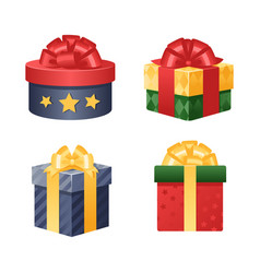 gift box isolated present vector image vector image
