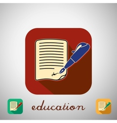 Icon education vector image