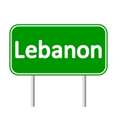 Lebanon road sign vector