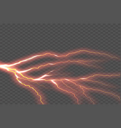 lightning electric thunder storm light flash vector image