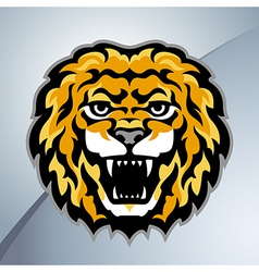 Lion head mascot vector