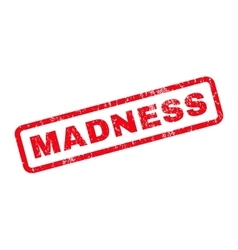 Madness rubber stamp vector