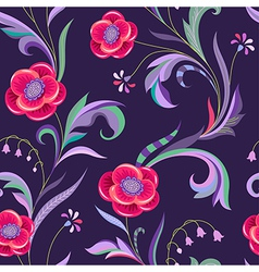 Pattern elegant flower night vector