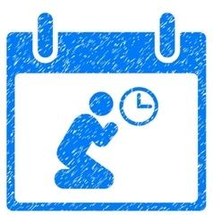 Pray time calendar day grainy texture icon vector
