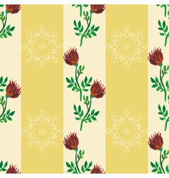 Seamless pattern watercolor vector image