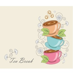tea break vector image