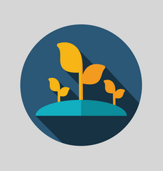 Plant sprout flat icon vector