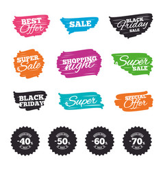 Sale discount icons special offer price signs vector