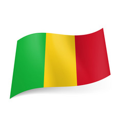 National flag of mali green yellow and red vector