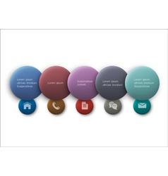 Buttons web design vector