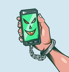 Smart phone slave vector image