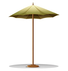 A table umbrella vector image